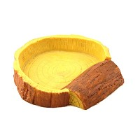 Zhhlaixing 爬虫類ボウル Thanksgiving Day Black Friday Simulation Resin Reptile Water Tank Bowl dock for...