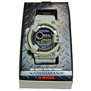"CASIO G-SHOCK DW-8200LG-8JR ""MEN IN WHITE GRAY"" FROGMAN"
