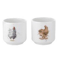 Wrendale by Royal Worcester Egg Cups Chickens, Set of 2 by Wrendale by Royal Worcester