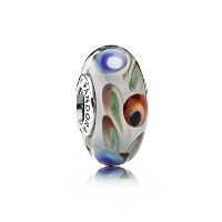 PANDORA Charms パンドラ チャーム - 青、赤と緑のフォークロア?グラス?チャーム - Blue, Red and Green Folklore Glass Charm