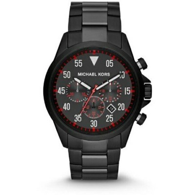 マイケルコース Michael Kors メンズ 腕時計 時計 Michael Kors Nate Black Dial Black Ion-plated Mens Watch MK8332