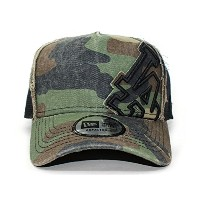 (ニューエラ) NEW ERA LOS ANGELES DODGERS 【D-FRAME TRUCKER MESH CAP BATTALION/WOODLAND CAMO】 ロサンゼルス ドジャース
