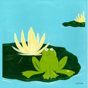 Green Frog Art 6X6 Canvas Gallery Wrapped Art, Lily Pad Pond I by Green Frog Art