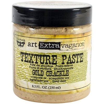 Art Extravagance Texture Paste 8.5oz-Gold Crackle (並行輸入品)