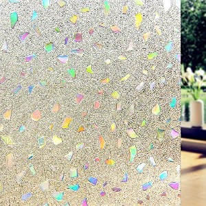DuoFire装飾Repositionable Static Cling Stained非粘着プライバシーガラスウィンドウフィルムds170 0.6M X 2M DS170-60200