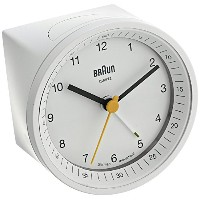 Braun BNC007WHWH Classic Light Analog Quartz Alarm Clock [並行輸入品]