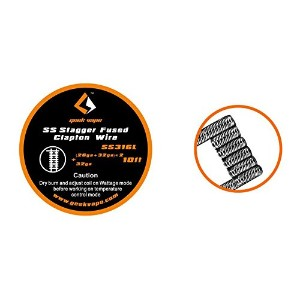 GeekVape 316L Stainless Steel Stagger Fused Clapton Heating Wire (ステンレススチール・スタッガー・ヒューズド・クラプトン・ワイヤー)