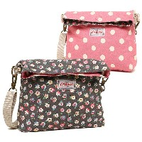 キャスキッドソン バッグ CATH KIDSTON 594196 MINI REVERSIBLE MESSENGER BAG COTTON DITSY ショルダーバッグ CHARCOAL