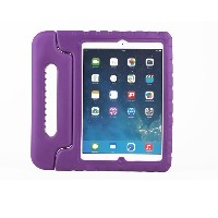 For iPad mini 1 2 3 Case Purple Shockproof Case Light Weight Super Protection Cover Handle Stand...