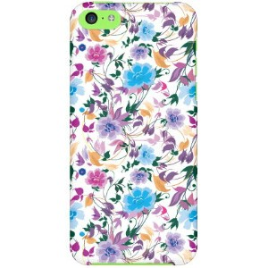 【送料無料】 breezeflower パープル produced by COLOR STAGE / for iPhone 5c/docomo 【Coverfull】【受注生産】【スマホケース】...