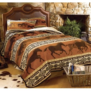Horse Fever Fleece Blanket – Twin