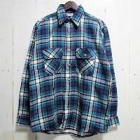 [dead stock デッドストック] five brother ファイブブラザー [heavy flannel shirts][ls][dead stock][blue]