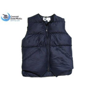 【期間限定30%OFF!】CRESCENT DOWN WORKS(クレセント・ダウン)/ #301C V-NECK NBNW VEST/navy