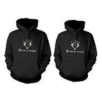 365 Printing His and Her Couple Outfit You Are My Diamond Matching Hoodies for Couples