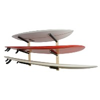 Surfboard Wall Rack | Basic Wood Surf Rack | 3 Boards | StoreYourBoard by StoreYourBoard