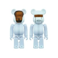 BE@RBRICK DAFT PUNK(WHITE SUITS Ver.)2 PACK GUY-MANUEL de HOMEM-CHRISTO/THOMAS BANGALTER 100% メディコム...