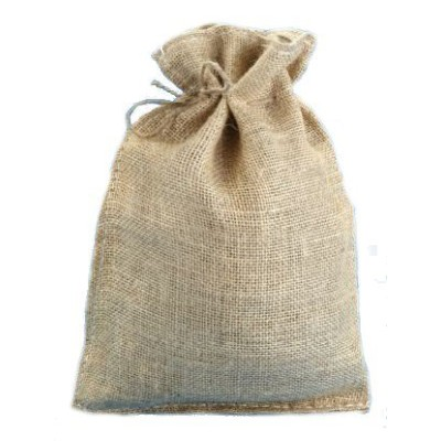 10 X 14 Burlap Bags with Drawstring - Lot of 10 by Premium Bags