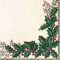 Creative Converting 34568 16 Count Winter Holly用紙Beverage Napkins