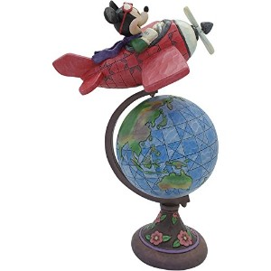 Disney Traditions Globetrotting Aviator Mickey Mouse Statue ディズニー ミッキーマウス フィギュア Mickey Mouse社【並行輸入】