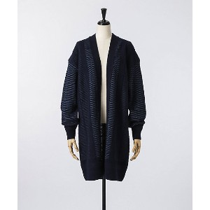 mame/マメ  Straw Cable Knit Gown(MM17AW-KN025) ネイビー 【三越・伊勢丹/公式】 レディースウエア~~カーディガン・ボレロ