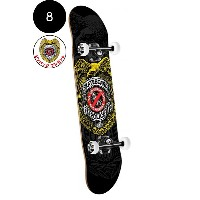 【POWELL PERALTA パウエル・ペラルタ】8in x 32.125in SKATEBOARD POLICE COMPLETEコンプリートデッキ(完成組立品)スケートボード バッジ付...