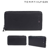 TOMMY HILFIGER WALLESLEY WALLET トミーヒルフィガー 財布 長財布 メンズ ラウンドファスナー レザー 4909 31TL13X015-001 ブラック [10/4...