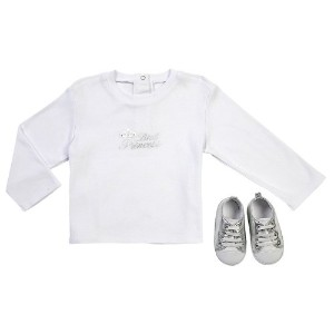 Elegant Baby Princess Tee and Shoe Set, 12 Months by Elegant Baby