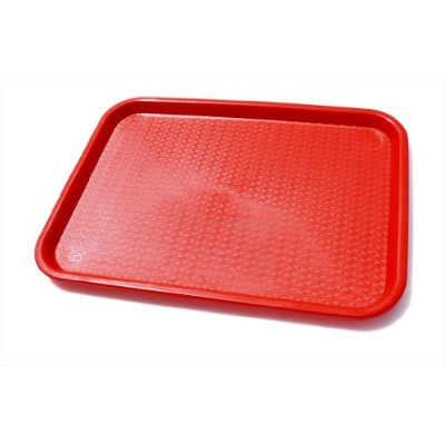 New Star 24654 Fast Food Tray, 30cm by 41cm, Red, Set of 12