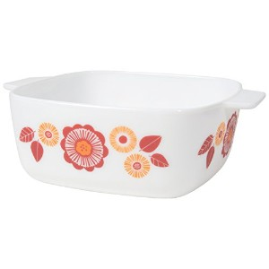 Now Designs modglassレトロSquare Baking Dish , Plantaデザイン L56003