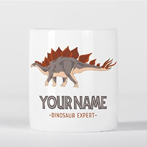 Customized Stegosaurus Dinosaur Expert Grey Brown Children Kids Personalised 貯金箱