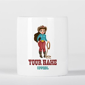 Customized Cowgirl Western Texas Children Kids Personalised 貯金箱