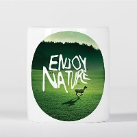 Enjoy Nature Inspirational Motivational Sheep Landscape Grass 貯金箱