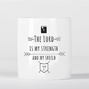 The Lord Is My Strength and My Shield Psalm Bible Verse Christian Quote 貯金箱