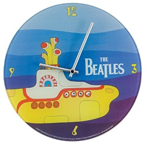 Vandor 64689 12-Inch Glass Wall Clock, The Beatles Yellow Submarine, Multicolored [並行輸入品]