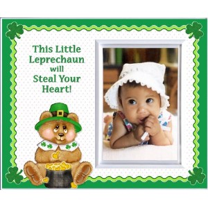 This Little Leprechaun St. Patrick's Day Picture Frame Gift and Decor by Expressly Yours! Photo...