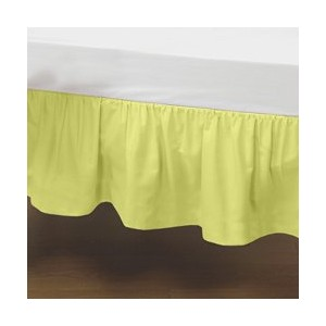 Portable Crib Solid Dust Ruffles - Color: Yellow by Baby Doll