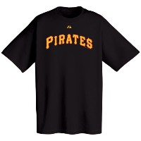Pittsburgh PiratesブラックWordmark Tシャツ XL