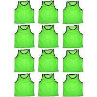 BlueDot Trading Youth High quality 12 Green sports pinnies- 12 High quality scrimmage training...