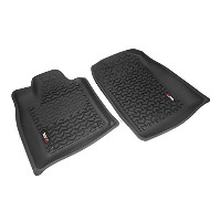 Rugged Ridge 12920.29 Floor Liner, Front Pair, Black, 2011 Durango, Jeep Grand Cherokee WK