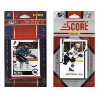 C & I Collectables SHARKS2TS NHL San Jose Sharks Licensed Score 2 Team Sets