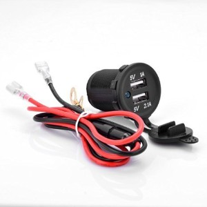12V 1A 2.1A Waterproof Dual 2 USB Port Power Socket Mobile GPS Charger Car Boat Marine Carvans by...