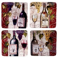 "Certified International by Color Bakery Wine Tasting Set of 4 Salad Plates 8.25"" 57451SET/4"