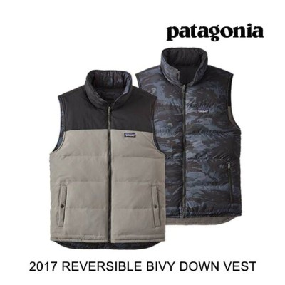 2017 PATAGONIA パタゴニア ベスト REVERSIBLE BIVY DOWN VEST FEA FEATHER GREY