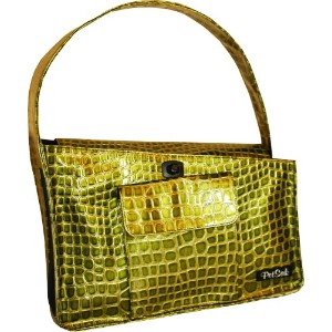 PuchiBag PetSak Bucket Tote Bag, Green Croc by PuchiBag