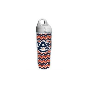Tervis TumblerオーバーンTigersクリアChevron Wrap Water Bottle with Lid–24oz