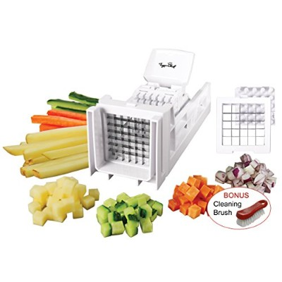 TigerシェフFrench Fry Cutter and Easy Vegetable Dicer Chopper with 2交換可能なブレード–もGreat for玉ねぎ、人参...