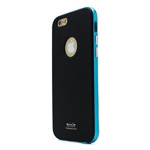 iPhone6s ケース カバー Tryit Slim Fit Case Metalic for iPhone6s (Black×Blue)