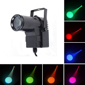 ミニ 10W RGBW 4 IN 1 DMX512 Music LED Beam Lamp Projector Spotlights Home Party Bar DJ Show Stage...