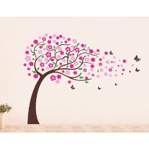 Pop Decors Flower Tree Wall Decals for Nursery Room, 71 by Pop Decors