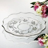 Studio Silversmiths Lucille LargeクリスタルPlatter